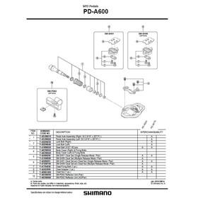 Shimano PD-A600 Pedal Grå/sølv